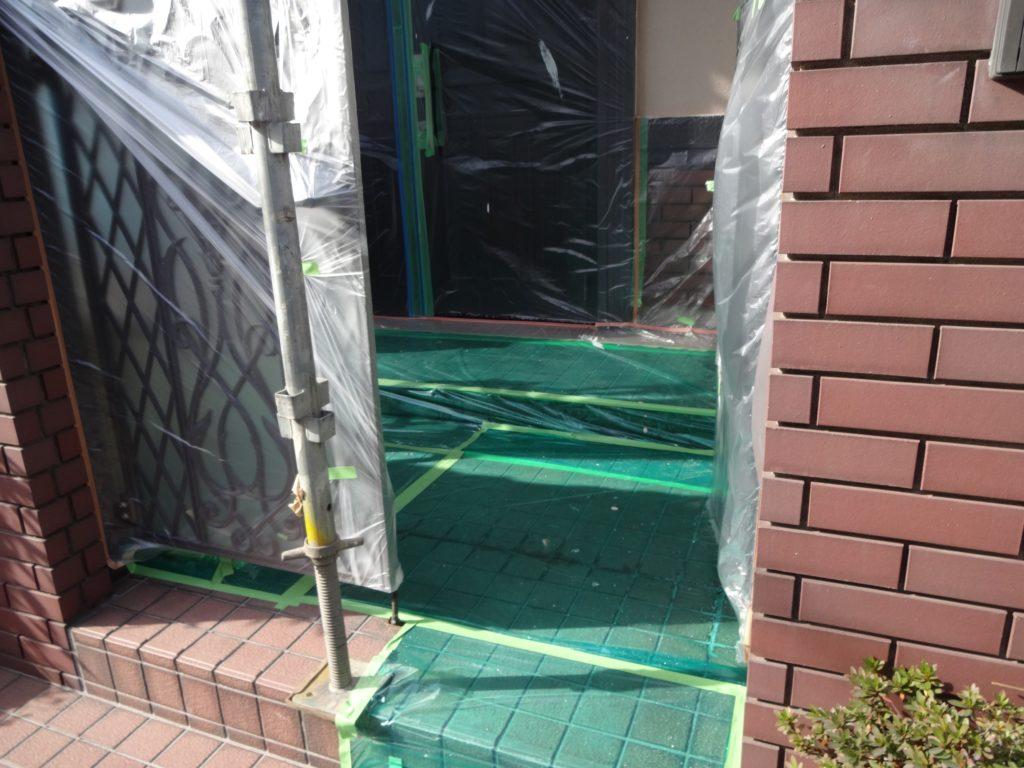 外壁塗装用のビニール養生