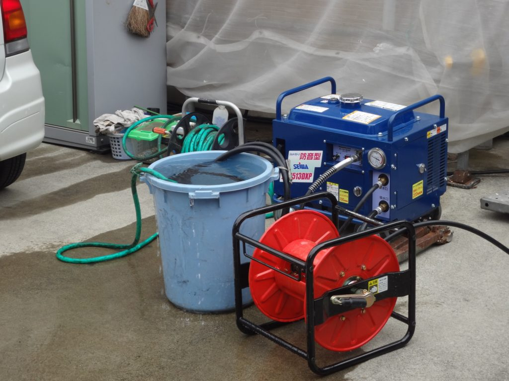 高圧洗浄用の機械