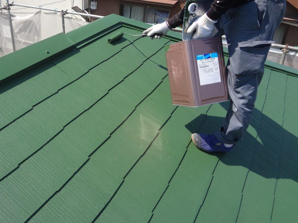 屋根の上塗り塗装
