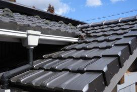 金属の瓦風の屋根材