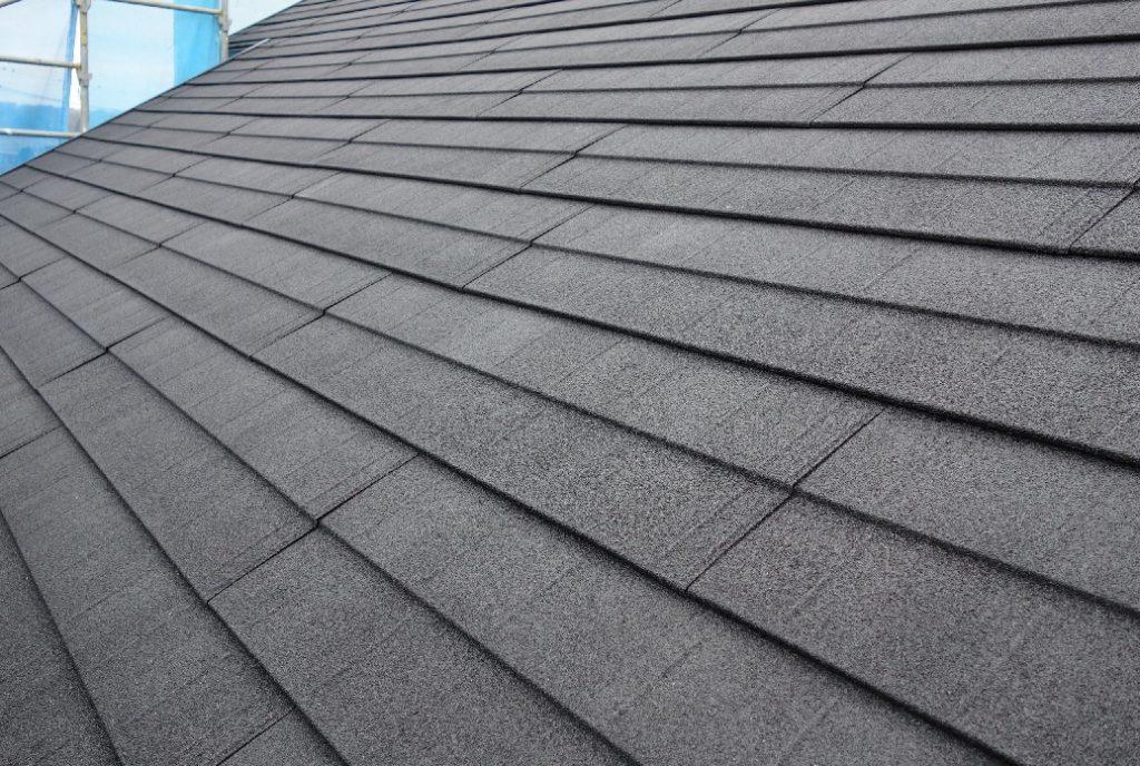 自然石粒付屋根