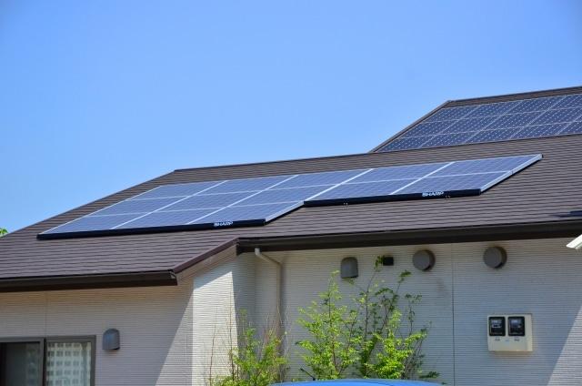 太陽光パネル設置屋根