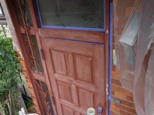 玄関下塗り