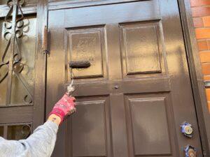玄関中塗り